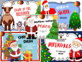 CHRISTMAS MUSIC GAMES BUNDLE - INTERVALS/NOTE NAMES/ NOTE VALUES/RHYTHMS