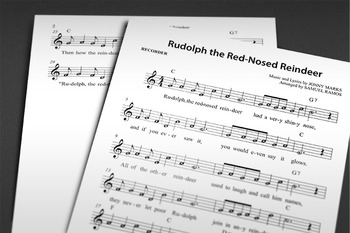 CHRISTMAS MUSIC: Rudolph the Red-Nosed Reindeer (RECORDER)