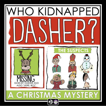 A Christmas Mystery.Christmas Mystery Activity Missing Reindeer