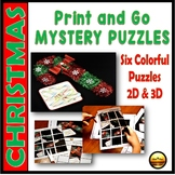 Christmas Puzzles Six Worksheets Packet