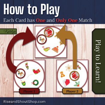 "CHRISTMAS Matching Game SHOUT OUT, 3"" & 5""cards + box, Spot the Match"