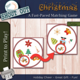 "CHRISTMAS Matching Game SHOUT OUT, 3"" & 5""cards + box, Spo"