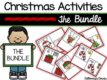 CHRISTMAS Matching Madness Activities Bundle