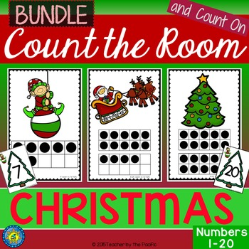 CHRISTMAS Math - Count the Room – Ten Frames and Numbers 1 - 20