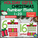 CHRISTMAS Math – Playdough Number Mats