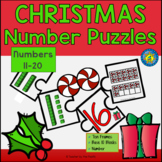 CHRISTMAS Math Number Puzzles 11 – 20 - Ten Frames and Bas