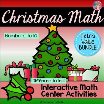 CHRISTMAS Math - Numbers 1-10 {BUNDLE}
