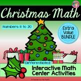 CHRISTMAS Math - Numbers 11-20 {BUNDLE}