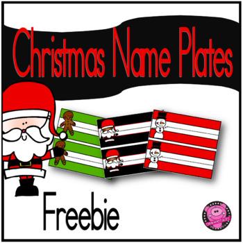 CHRISTMAS NAME PLATES FREEBIE