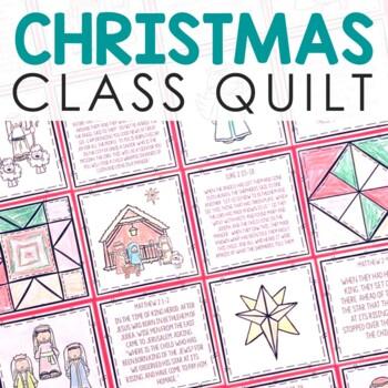 CHRISTMAS NATIVITY Quilt Craft | Class Project | Christian Activity