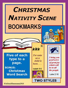 CHRISTMAS BOOKMARKS - NATIVITY SCENE
