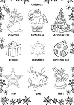 christmas colouring pages new year 2018