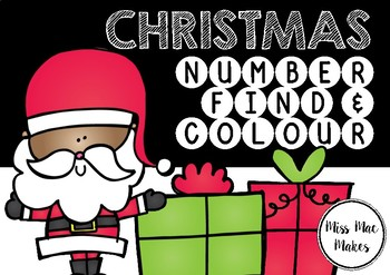 CHRISTMAS NUMBER FIND AND COLOUR