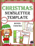 CHRISTMAS Newsletter Template - Editable