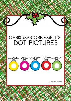 CHRISTMAS ORNAMENTS- DOT PICTURES