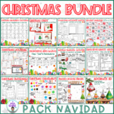CHRISTMAS PACK- 11 Activties/ Decorations- English, Spanis