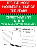 CHRISTMAS PACKET!! DEAR SANTA LETTERS & CHRISTMAS LIST TEMPLATE!