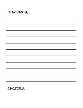 Christmas Packet Dear Santa Letters Christmas List Template