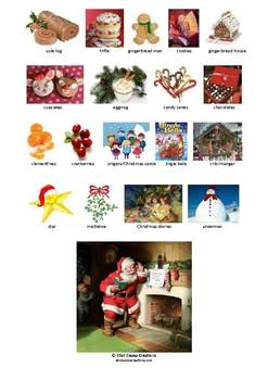 Christmas Pictionary.Christmas Pictionary Printable Page 2 With Page 1 Free