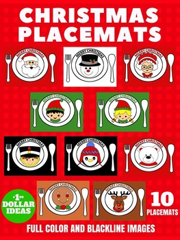 10 CHRISTMAS PLACEMATS | CHRISTMAS CRAFTS FOR KIDS
