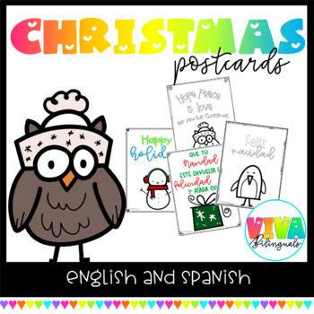CHRISTMAS POSTCARDS in english and spanish