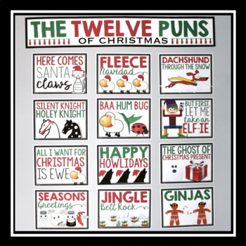 CHRISTMAS POSTERS: THE 12 DAYS OF CHRISTMAS PUNS