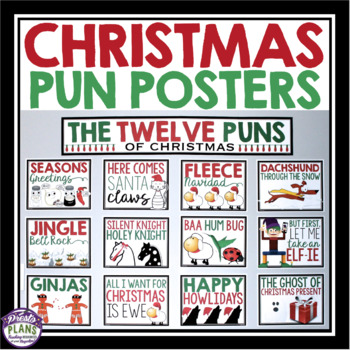 Christmas Pun.Christmas Posters The 12 Days Of Christmas Puns
