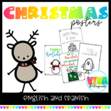 CHRISTMAS POSTERS in english and spanish