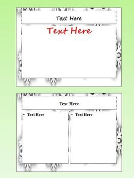Winter Activities - Editable Powerpoint templates