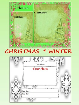 Christmas Activities - Editable Powerpoint templates