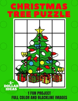 CHRISTMAS TREE PUZZLE   CHRISTMAS CRAFTS FOR KIDS