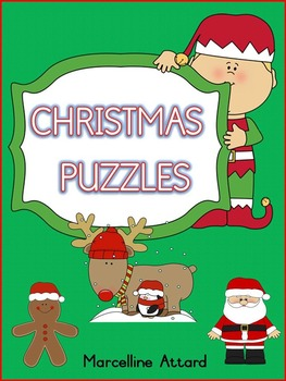 CHRISTMAS CUT AND PASTE PUZZLES TO IMPROVE CUTTING SKILLS