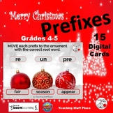 CHRISTMAS ... Prefixes & Root Words ... DIGITAL DECK   Vocabulary   Grades 4-5