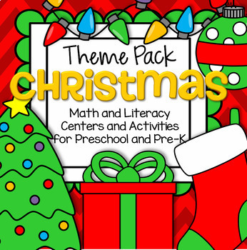 CHRISTMAS Math and Literacy Centers for Preschool and Pre-K