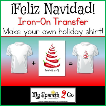 image relating to Printable Iron on Transfer called Xmas: Cute Chile Pepper Printable Iron-Upon Go For Â¡Feliz Navidad!
