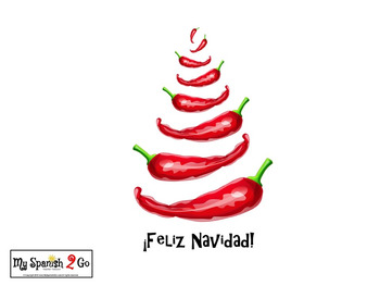 CHRISTMAS:  Adorable Chile Pepper Printable Iron-On Transfer For ¡Feliz Navidad!