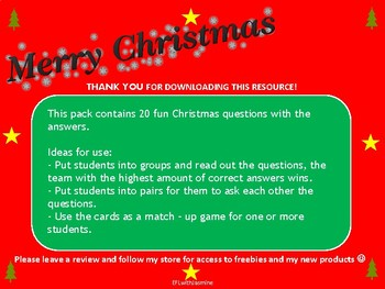 Christmas Questions To Ask.Christmas Quiz Adult Learning