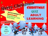 CHRISTMAS QUIZ: ADULT LEARNING