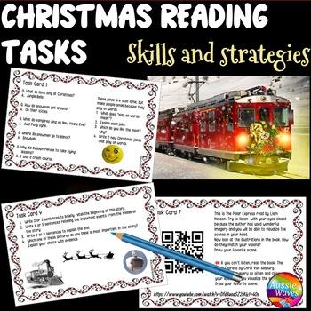 CHRISTMAS READING Activities Literacy Center Polar Express and Real Life Tasks