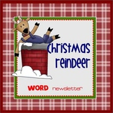 CHRISTMAS REINDEER - Newsletter Template WORD