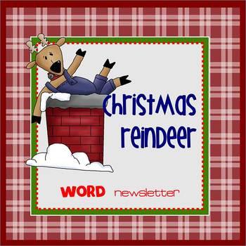 CHRISTMAS REINDEER - Newsletter Template WORD