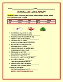 CHRISTMAS RHYMING ACTIVITY: GRADES 3-6, ELA, ESL