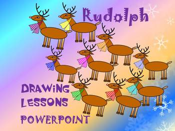 Christmas Activities -  Drawing lessons - Rudolph - PowerP