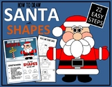 CHRISTMAS SANTA - Draw with Shapes