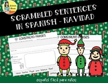 CHRISTMAS SCRAMBLED SENTENCES EN ESPAÑOL - ORACIONES REVUELTAS SOBRE LA NAVIDAD