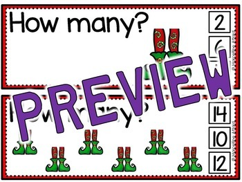 CHRISTMAS MATH ACTIVITIES (SKIP COUNTING CENTERS) COUNT BY 2S CLIP CARDS