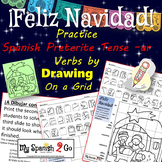 CHRISTMAS SPANISH PRETERITE TENSE -AR VERBS Draw on Grid