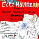 CHRISTMAS STAR PIñATA Practice SPANISH NUMBERS 1-30 Draw on Grid
