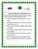 CHRISTMAS SUBJECT VERB AGREEMENT QUIZ: ELA, GRADES 3-6, ESL