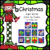 CHRISTMAS - Sight Word Color by Codes